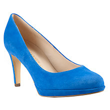 Buy Peter Kaiser Konia Slim Heel Court Shoes, Blue Online at johnlewis.com