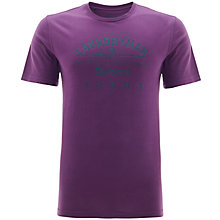 Buy Barbour Industrial Laundry Cotton T-Shirt, Plum Online at johnlewis.com