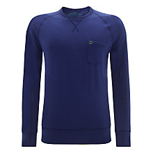 Buy Barbour Laundered Crew Neck Long Sleeve Top Online at johnlewis.com