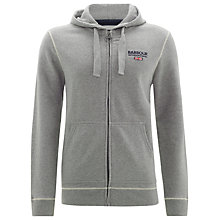 Buy Barbour International Longford Hoodie, Grey Online at johnlewis.com