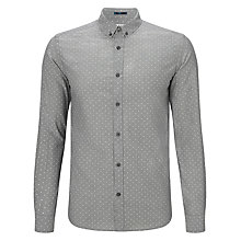 Buy Kin by John Lewis Button Down Polka Dot Shirt, Grey Online at johnlewis.com