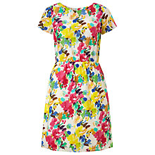 Buy Collection WEEKEND by John Lewis Paint Floral Print Cotton Dress, Multi Online at johnlewis.com