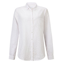 Buy Collection WEEKEND by John Lewis Floral Puff Print Shirt, White Online at johnlewis.com