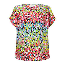 Buy Collection WEEKEND by John Lewis Brush Mark Print Top, Multi Online at johnlewis.com