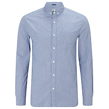 Buy Kin by John Lewis Button Down Dobby Shirt, Blue Online at johnlewis.com