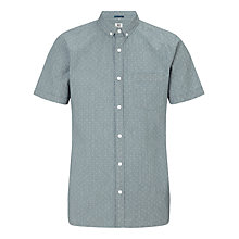 Buy Kin by John Lewis Short Sleeve Button Down Dobby Shirt, Grey Online at johnlewis.com