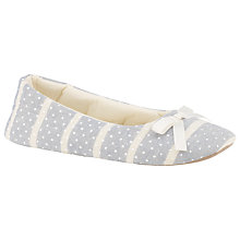 Buy John Lewis Peppermint Slippers, Blue Online at johnlewis.com