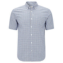 Buy John Lewis Short Sleeve Tattersall Check Oxford Shirt Online at johnlewis.com