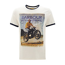 Buy Barbour International Steve McQueen Nevada T-Shirt, White Online at johnlewis.com