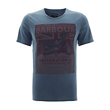 Buy Barbour International Riding T-Shirt, Blue Online at johnlewis.com