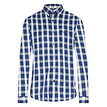 Buy Barbour Haden Slim Fit Cotton Shirt, Blue Online at johnlewis.com