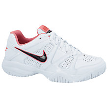 Buy Nike City Court 7 Trainers, White/Pink Online at johnlewis.com