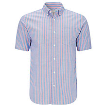 Buy John Lewis Short Sleeve Striped Oxford Shirt Online at johnlewis.com