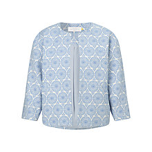 Buy Collection WEEKEND by John Lewis Boxy Jacquard Jacket, Blue/Ivory Online at johnlewis.com