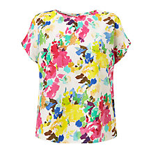 Buy Collection WEEKEND by John Lewis Paint Floral Cotton Top, Multi Online at johnlewis.com