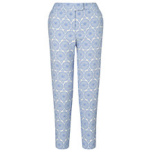 Buy Collection WEEKEND by John Lewis Jacquard Capri Trousers, Blue / Ivory Online at johnlewis.com