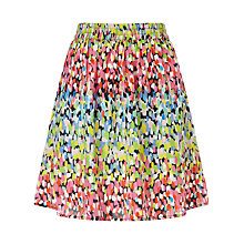 Buy Collection WEEKEND by John Lewis Brush Mark Print Skirt, Multi Online at johnlewis.com