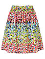 Collection WEEKEND by John Lewis Brush Mark Print Skirt, Multi
