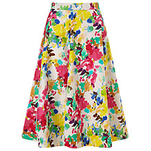 Buy Collection WEEKEND by John Lewis Painterly Floral Full Skirt, Multi Online at johnlewis.com