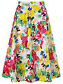 Collection WEEKEND by John Lewis Painterly Floral Full Skirt, Multi