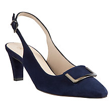 Buy Peter Kaiser Merlina Suede Toe Pointed Court Heels, Navy Online at johnlewis.com