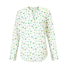 Buy John Lewis Lemon Print Popover Tunic Top, White/Yellow Online at johnlewis.com