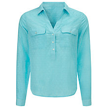 Buy John Lewis Moss Dobby Popover Shirt Online at johnlewis.com