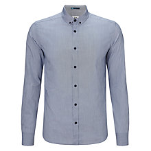 Buy Kin by John Lewis Button Down Fine Stripe Shirt, Navy Online at johnlewis.com
