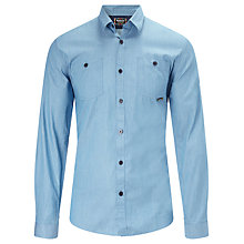 Buy Barbour International Thunder Shirt, Mid Blue Online at johnlewis.com
