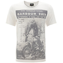 Buy Barbour International Suit Printed T-Shirt, White Online at johnlewis.com