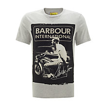 Buy Barbour International Steve McQueen Smooth T-Shirt, Grey Online at johnlewis.com