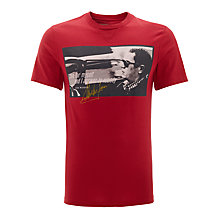Buy Barbour International Steve McQueen Nobody T-Shirt, Red Online at johnlewis.com