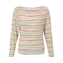 Buy John Lewis Crayon Stripe Soft Touch Top Online at johnlewis.com