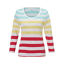 Buy John Lewis Striped Slub Cotton Scoop Neck T-Shirt Online at johnlewis.com
