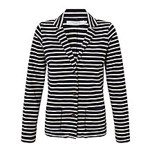Buy John Lewis Jersey Slub Stripe Jacket, Navy/Cream Online at johnlewis.com