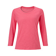 Buy John Lewis Three Quarter Sleeve Slub T-Shirt Online at johnlewis.com