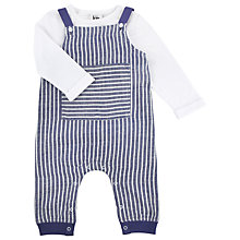 Buy Kin by John Lewis Stripe Dungaree Set, Set of 2, Navy/White Online at johnlewis.com