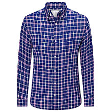 Buy John Lewis Window Check Long Sleeve Shirt, Cobalt Blue Online at johnlewis.com
