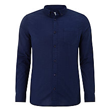 Buy John Lewis Cross Dot Cotton Shirt, Indigo Online at johnlewis.com