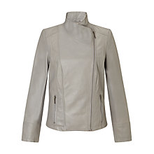 Buy John Lewis Zip Front Leather Jacket Online at johnlewis.com