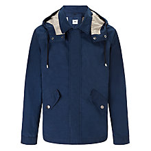 Buy Kin by John Lewis Waxed Cotton Short Parka, Navy Online at johnlewis.com