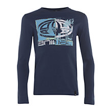 Buy Animal Boys' Brackens Long Sleeve T-Shirt, Indigo Online at johnlewis.com