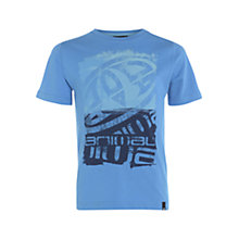 Buy Animal Children's Hacen Graphic Print T-Shirt, Blue Online at johnlewis.com