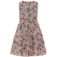 Buy Yumi Girl Birdcage Print Dress, Beige Online at johnlewis.com