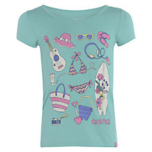Buy Animal Girls' Alvina Graphic Print T-Shirt, Green Online at johnlewis.com