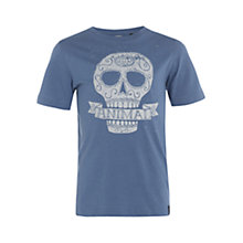 Buy Animal Boys' Hugie Sugar Skull T-Shirt, Blue Online at johnlewis.com