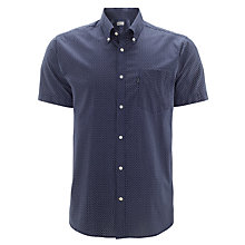 Buy Barbour Theo Short Sleeve Shirt, Navy Online at johnlewis.com