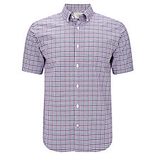 Buy John Lewis Dense Check Oxford Short Sleeve Shirt Online at johnlewis.com
