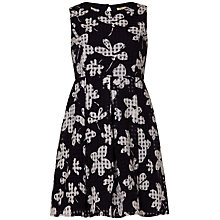 Buy Yumi Girl Check Flower Dress, Black Online at johnlewis.com