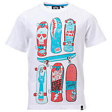 Buy Animal Boys' Helter Skateboard Graphic Print T-Shirt, White Online at johnlewis.com